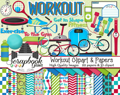 WORKOUT Clipart and Papers