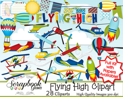 FLYING HIGH Clipart