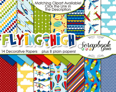 FLYING HIGH Digital Papers