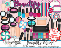 BEAUTIFY Clipart and Papers