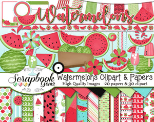 WATERMELONS Clipart and Papers