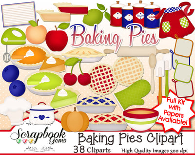 BAKING PIES Cliparts