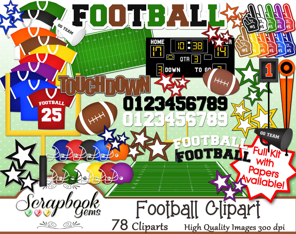 FOOTBALL Sports Clipart