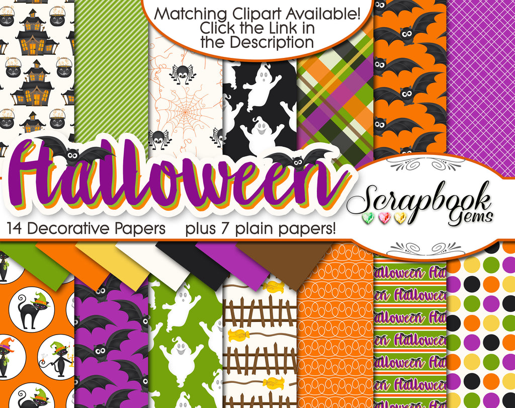 HALLOWEEN, Set #1 Digital Papers