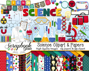 SCIENCE Clipart and Papers