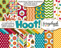 WHAT A HOOT OWLS Digital Papers