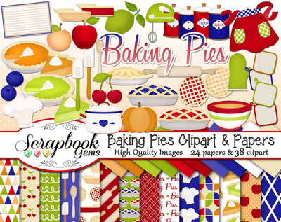 BAKING PIES Clipart and Papers
