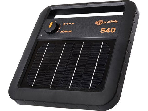 Gallagher Portable Solar Fence Energizer S40
