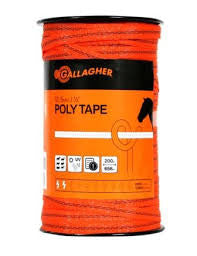 Gallagher 12.5 mm Poly Tape High Visibility Orange (200m)