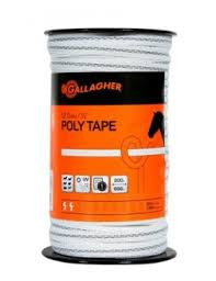 Gallagher 12.5mm Poly Tape White (200m)