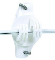 Gallagher Wide Jaw Wood Post Insulator (White, 25/Bag)