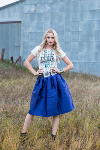 Brilliant Blue Skirt