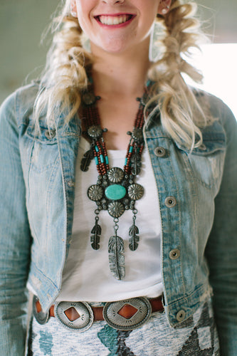 Feather Patina necklace