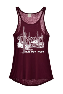 Way out West Burgundy tank