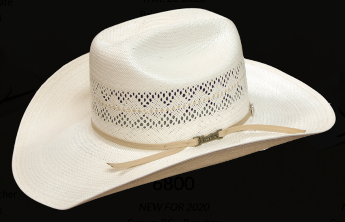 American Hat 6800 Long Oval Straw-Hat-Branded Envy
