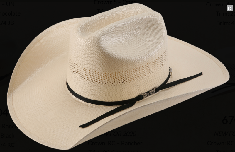 American Hat 7104 Long Oval Straw-Hat-Branded Envy
