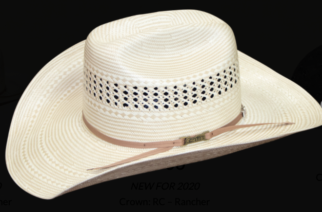 American Hat 7700 Long Oval Straw-Hat-Branded Envy