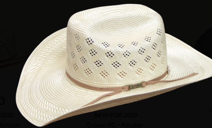 American Hat 7800 Long Oval Straw-Hat-Branded Envy