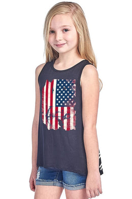Youth America b&w tank