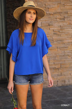 Cobalt blue  summer shandy blouse