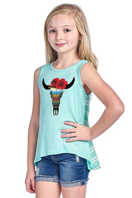 Youth Mint steer head tank