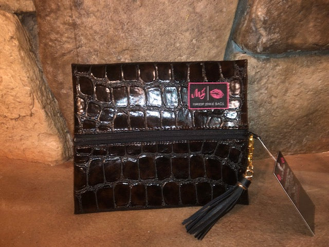 Midnight Gator Makeup Junkie-Bag-Branded Envy