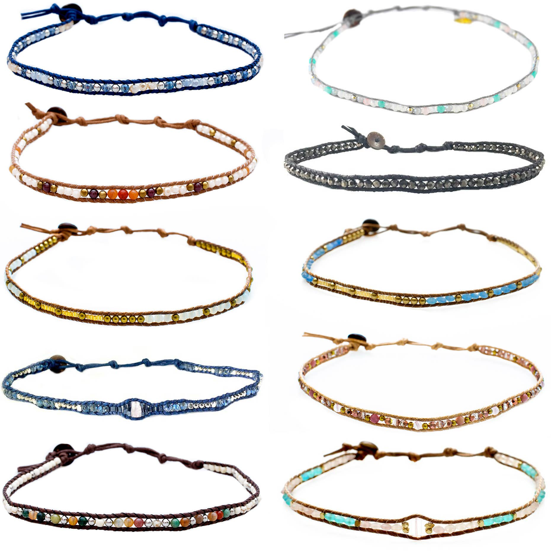 Double wrap beaded chokers-Accessory-Branded Envy