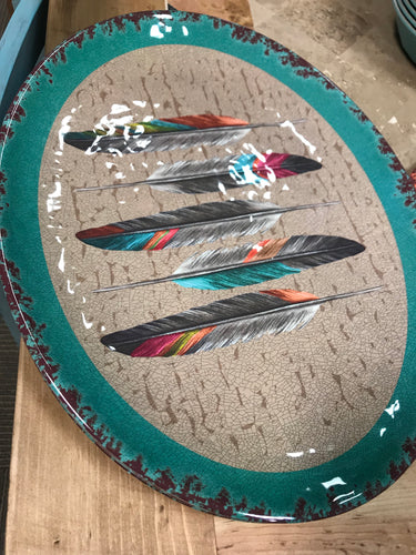 Feather Serving plate