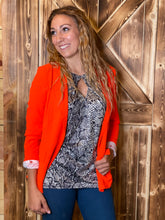 The Slayer Neon Orange Blazer