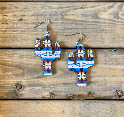 Small Aztec Cactus earrings