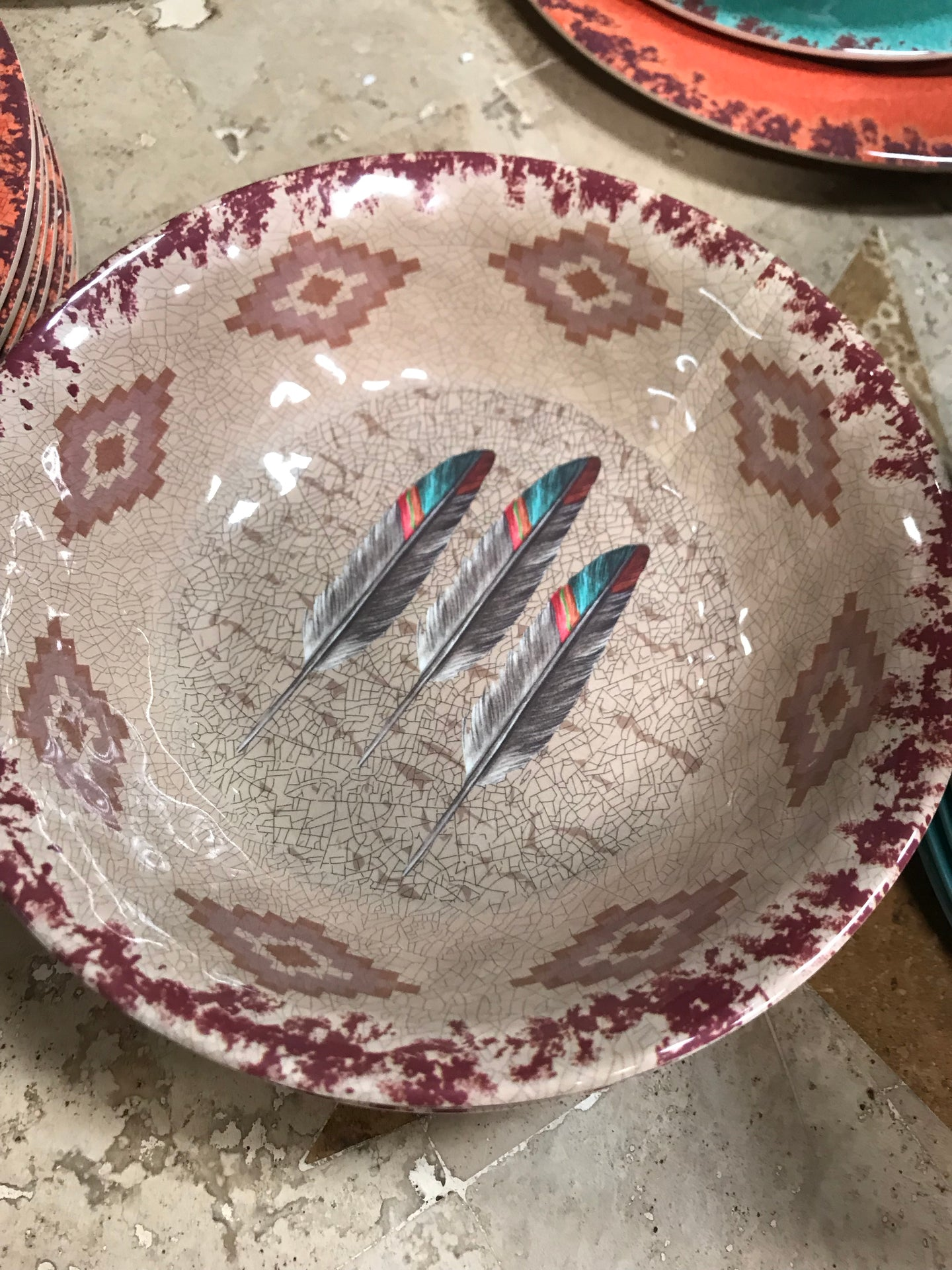 Feather dinner bowl