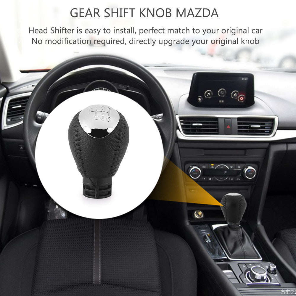 ... 6 Speed Gear Shift Knob For Mazda 6 Mazda 5 Mazda 3 Lever Handle Head  Hanball ...