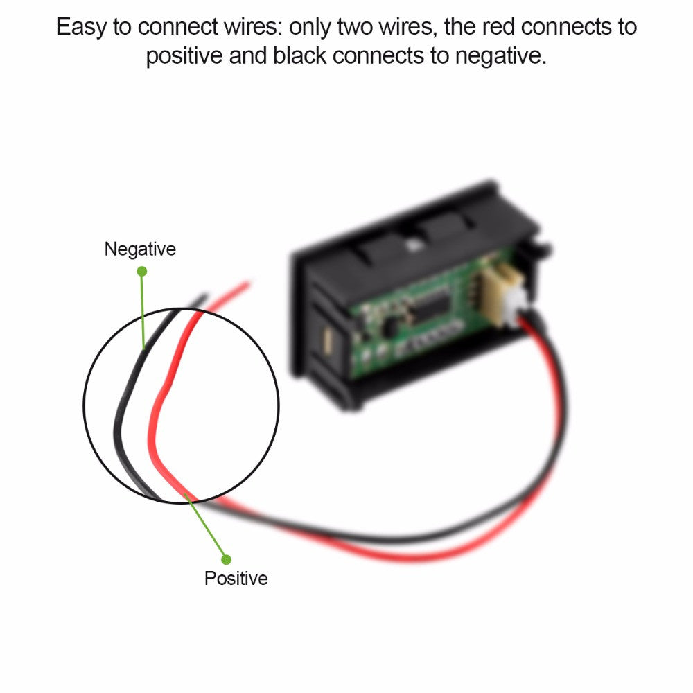Wiring Voltmeter Motorcycle Wire Data Schema Led Diagram Of High Quality Digital Red Panel With Two Rh Theonlyplaceforwatches Com Volt Gauge
