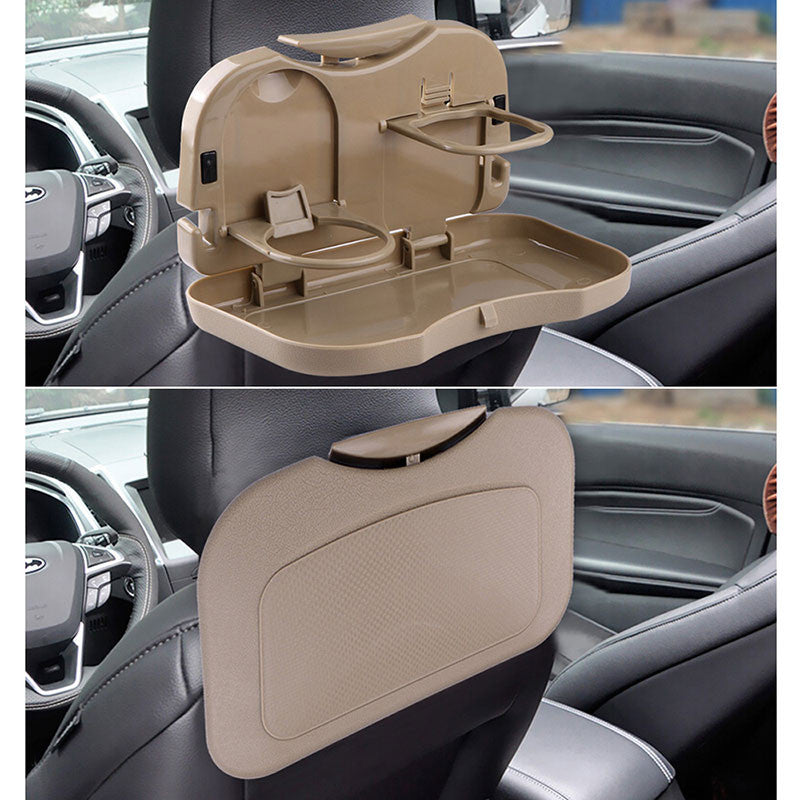 Onever Car Seat Drink Holder Cup With Foldable Shelf For Coffee Beverage Bottle Auto