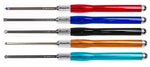Carbide Wood Lathe Turning Tools Set of 5 Mid Size with Colored Handles