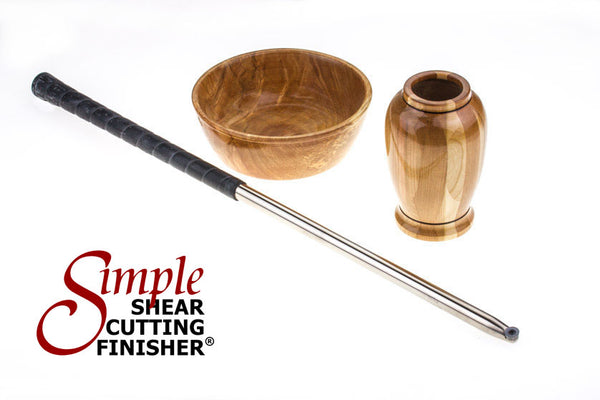 Simple Shear Cutting Finisher Carbide Lathe Tool with Golf Grip Handle for Woodturning Lathe