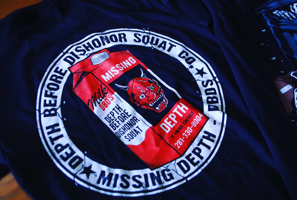 (DBDS Missing Depth Tee)) Back logo