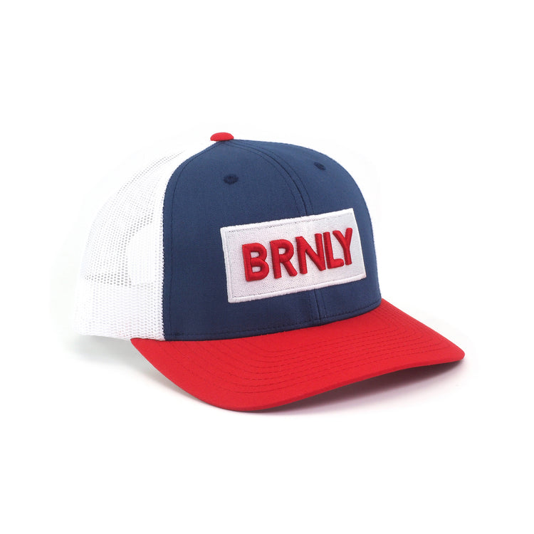 BRNLY Snapback, Red/White/Blue