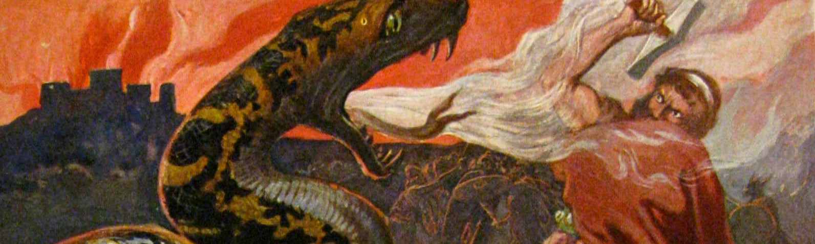 Thor and the Midgard Serpent (by Emil Doepler, 1905)
