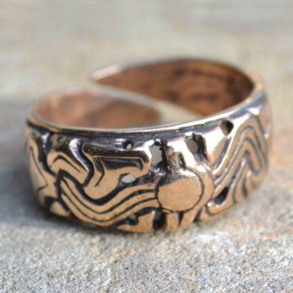 Norwegian Viking Ring - Bronze