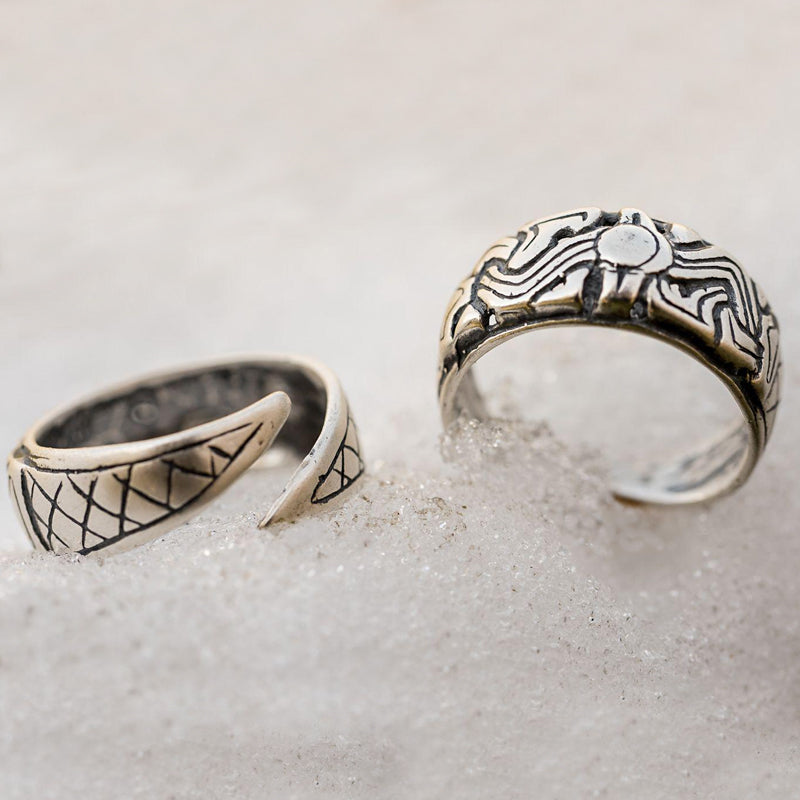 Norwegian Viking Ring - Sterling Silver