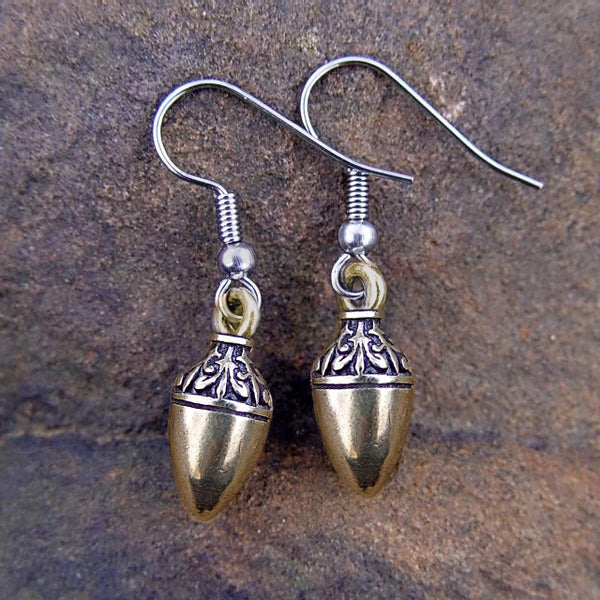 Acorn Earrings | Bronze or Sterling Silver
