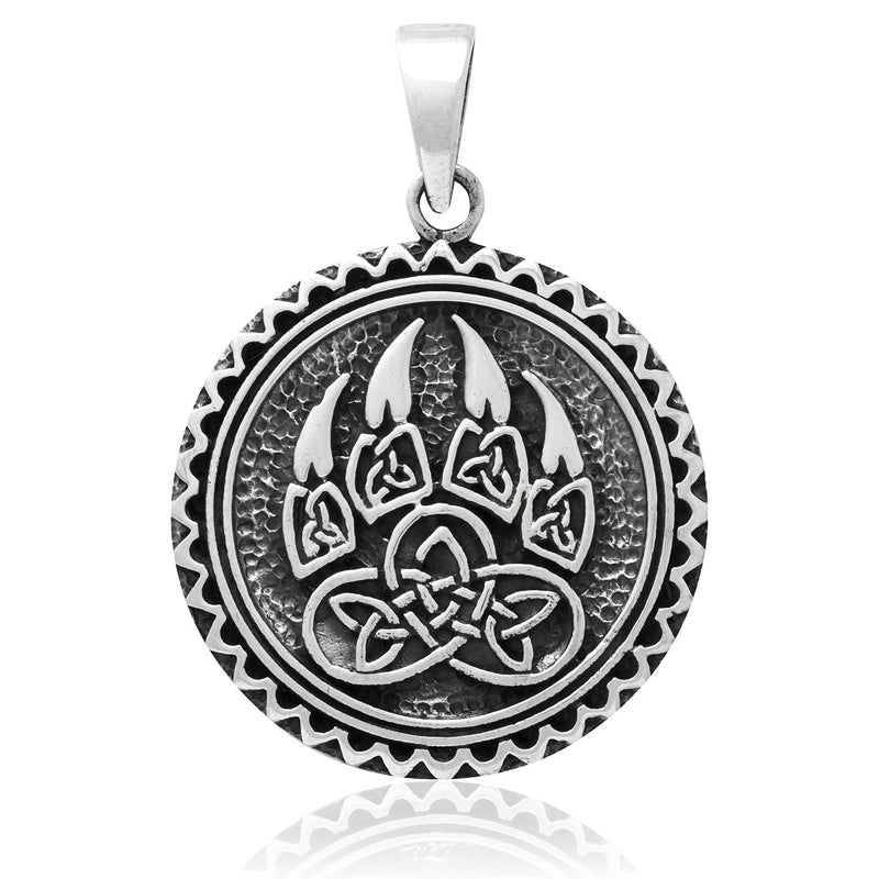 Bear claw pendant viking motif amulet of a bear paw with celtic bear claw pendant mozeypictures Image collections
