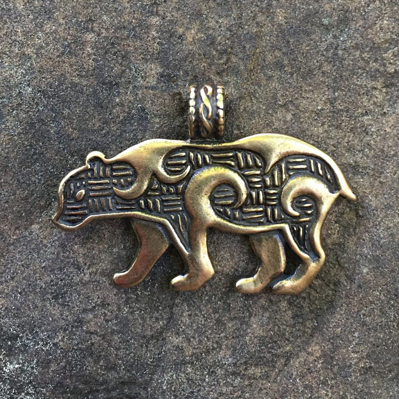 Bear Pendant - Bronze