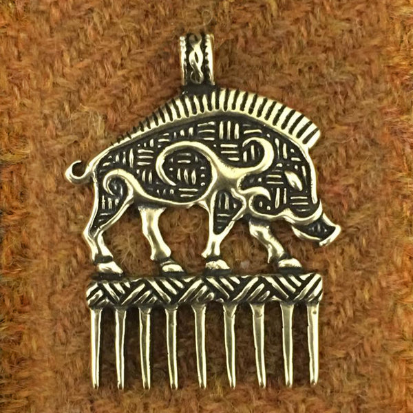 Celtic Boar Beard Comb