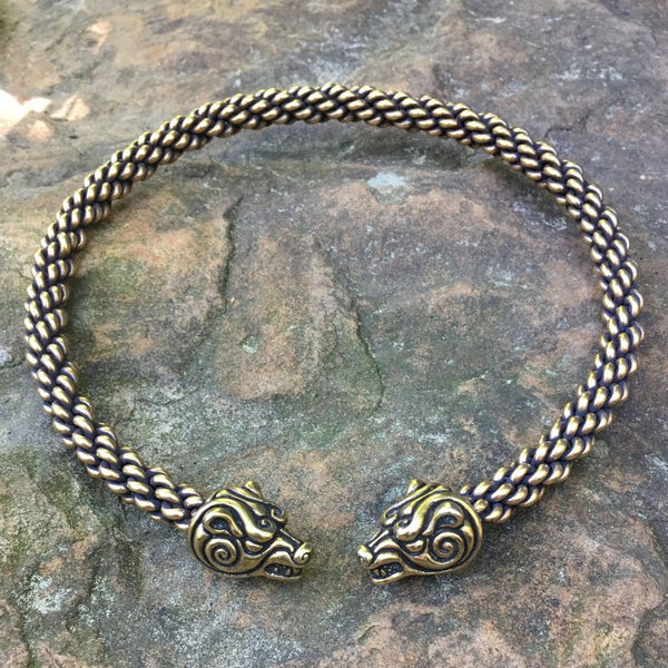 Berserker Bear Torc - Heavy Braid