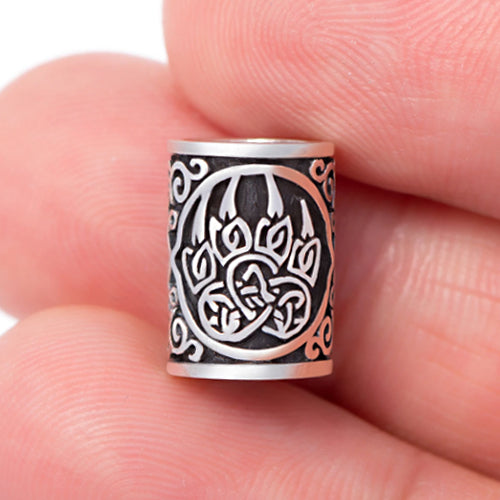 Berserker Bear Beard Bead - Sterling Silver