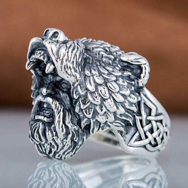 Berserker Warrior Ring - Sterling Silver