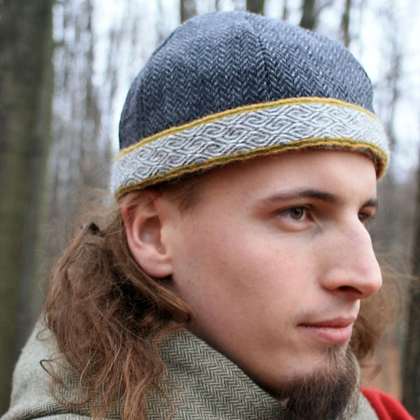 Grey Viking Cap - Wool