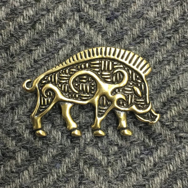 Boar Pin - Silver or Bronze